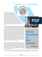 Universal Financial Access by 2013