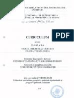Curriculum - X- Structuri Pentru Constructii