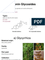 Pharmacognosy Lecture # 3 (Saponin Glycosides) [By, Sir Tanveer Khan]