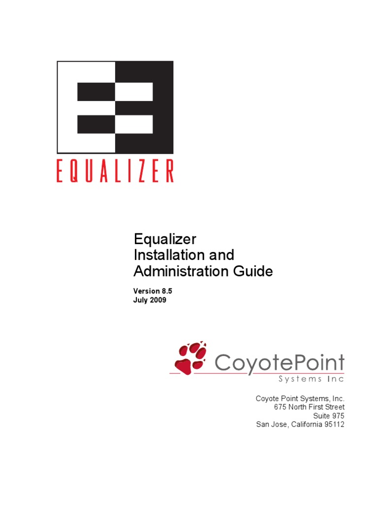 Equalizer Manual | Load Balancing (Computing) | Web Server