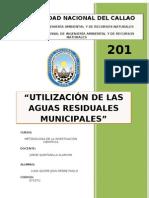 UTILIZACIÓN DE LAS AGUAS RESIDUALES MUNICIPALES