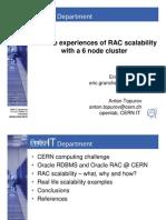 CERN - Real Life RAC Scalability Experiences