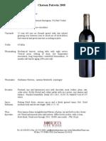 Chateau Poitevin Medoc Cru Bourgeois Fact Sheet