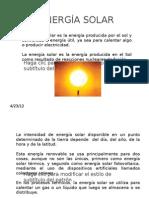 ENERGÍA SOLAR diapositivas para potencia