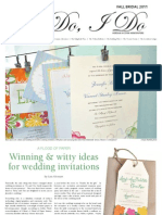 I Do, I Do - Fall Bridal - North/South Edition - Hersam Acorn Newspapers
