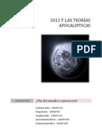 Teorias Apocalipticas Del 2012