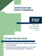 3 Variabel Acak n Distribusi Probabilitas
