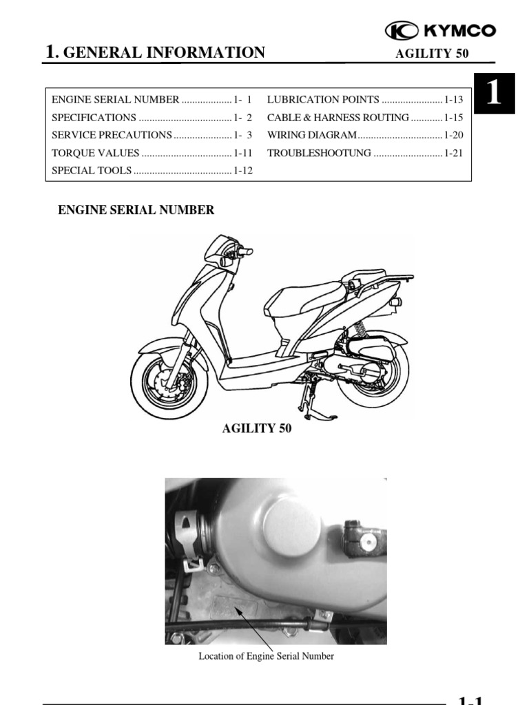 AGILITY50 cap 01 (info generali) | Carburetor | Ignition System