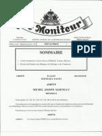 Arrete Presidentiel Nommant Garry Conille Premier Ministre