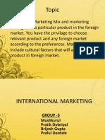 International Marketing new product launch