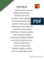 Materiały do wiersza_Życie Liścia_Małgorzata Koralewska