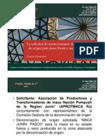 La solicitud de reconocimiento de denominación de origen para maca fresca y seca Junín-Pasco