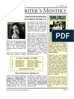 Songwriter's Monthly, Oct. '11, #3 - Newsletter