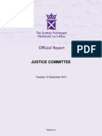 Justice Committee Report 13 September Tom Devine