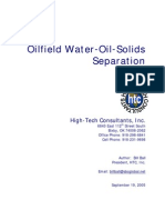 Oilfield Oil Water Solids Separation