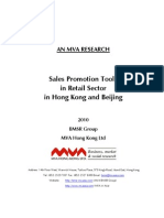 Sales Promotion Tools in Retail Sector in HK BJ