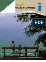 Informe Nacional de Desarrollo Humano 2011 - Resumen Ejecutivo