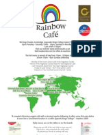 Rainbow Cafe Menu 2009