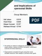 Scope & Implications of Interpersonal Skills New