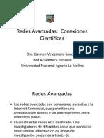 Redes Avanzadas Conexiones científicas.Carmen Velezmoro