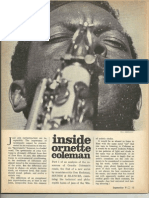 Inside Ornette Coleman Downbeat