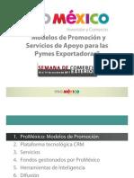 Modelos de Promoción y Servicios de Apoyo para las Pymes impartida por Proméxico