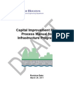 CIP Process Manual for Infrastructure Programs, City of Houston