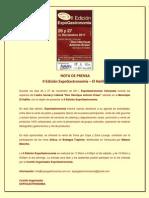 Nota de Presa - II Edición ExpoGastronomía El Hatillo