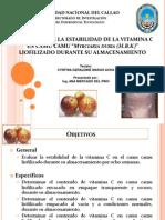 Estabilidad de La Vitamina C en Camu Camu. Ana Mercado