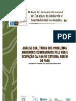 analise qualitativa dos problemas ambientais configurados pelo uso e ocupação da ilha de cotijuba
