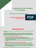 Jerusalem Settlement Presentation - July 10, 2008