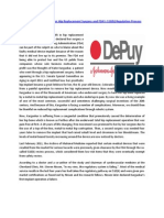 The Relationship Between Hip Replacement Surgery and FDAs 510k Regulation Process