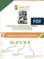 Emprendimiento en innovación tecnológica-RAMP Perú