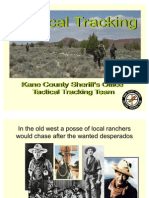 Tactical Human Tracking Techniques 0608