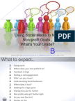 Using Social Media to Meet Your Non-Profit Goals- What's Your Grade
