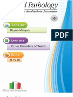 Lecture 4 ,Other Disorders of Teeth (Script)