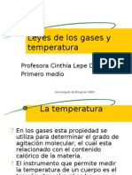 Leyes de los gases y temperatura
