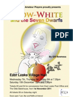 Poster for ELAPs production of Snow White and the Seven Dwarfs in December 2011