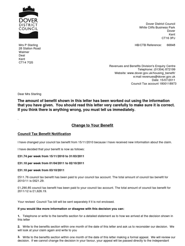 Council Tax Benifit Pension Taxes
