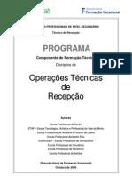 operações e tecnicas de recepção