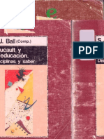 S. J. Ball - Foucault y la educacion