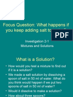 Mixtures and Solutions 2-1