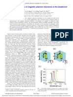 .X.cao-20100816-APL-High Sensing Properties of Magnetic Plasmon Resonance in the Double-rod and Tri-rod Structures