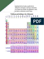 la classification des éléments chimiques