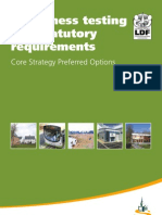 South Wiltshire Core Strategy - Preferred Options - Soundness Testing and Statutory Requirements