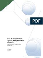 Manual de Instalacion de Apache Phgp y Mysql en Windows