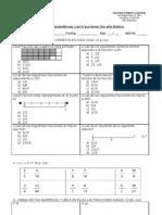 Prueba de fracciones 5to básico