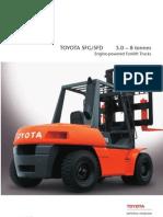 Toyota 5FG-FD Brochure