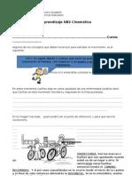 Guía de aprendizaje de Cinemática 4to basico