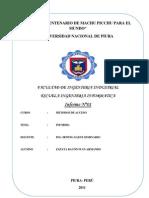 INFORME Nº1 DE METODOS DE ACCESO